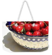 Bowl Of Cherries With Shadow Weekender Tote Bag