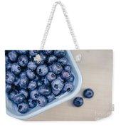 Bowl Of Fresh Blueberries Weekender Tote Bag