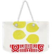 Bowl Of Lemons- Art By Linda Woods Weekender Tote Bag