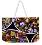 Bowls Full Of Marbles And Dice Weekender Tote Bag