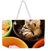 Bowls Of Different Flavor Ice Creams Weekender Tote Bag