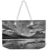 Bowman Lake Black And White Panoramic Weekender Tote Bag