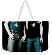 Boy And Girl Sitting In A ... Weekender Tote Bag