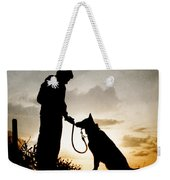 Boy And His Dog Weekender Tote Bag by Clayton Bastiani