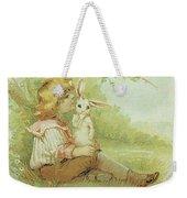 Boy And Rabbit Weekender Tote Bag
