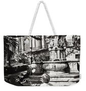 Boy At Statue In Sicily Weekender Tote Bag