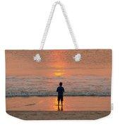 Boy At Sunrise Weekender Tote Bag