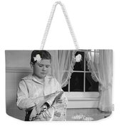 Boy Drying Dishes, C.1950s Weekender Tote Bag