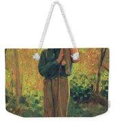 Boy Holding Logs Weekender Tote Bag by Winslow Homer