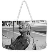 Boy In Fountain Sculture Grand Junction Co Weekender Tote Bag