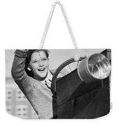 Boy In In Go-cart, C.1940-30s Weekender Tote Bag