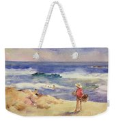 Boy On The Sand Weekender Tote Bag by Joaquin Sorolla