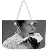 Boy Sneezing Weekender Tote Bag