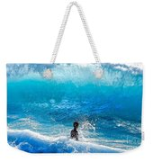 Boy And Wave   Kekaha Beach Weekender Tote Bag