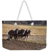 Boy Waiting With Horses Weekender Tote Bag