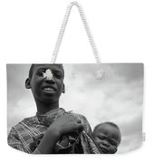 Boy With A Baby Weekender Tote Bag