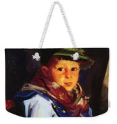 Boy With A Green Cap Also Known As Chico 1922 Weekender Tote Bag