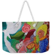 Boy With Empanadilla In His Hand Weekender Tote Bag