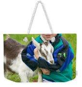 Boy With Goat Weekender Tote Bag