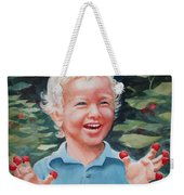Boy With Raspberries Weekender Tote Bag