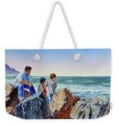 Boys And The Ocean Weekender Tote Bag