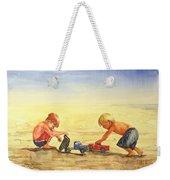 Boys And Trucks On The Beach Weekender Tote Bag