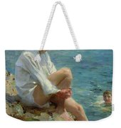 Boys Bathing Weekender Tote Bag