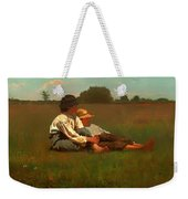 Boys In A Pasture Weekender Tote Bag