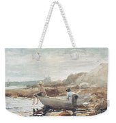 Boys On The Beach Weekender Tote Bag by Winslow Homer