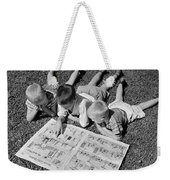 Boys Reading Newspaper Comics, C.1950s Weekender Tote Bag