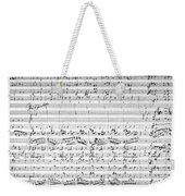 Brahms Manuscript Weekender Tote Bag