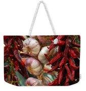 Braid Of Garlic Framed By Ristras Weekender Tote Bag