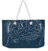 Brain Drawing On Chalkboard Weekender Tote Bag by Setsiri Silapasuwanchai
