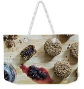Bran Muffins With Mulberry Jam Weekender Tote Bag