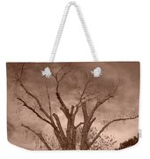 Branches Against Sepia Sky H   Weekender Tote Bag