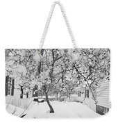 Branches In Snow Weekender Tote Bag