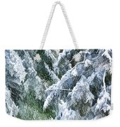 Branches In Winter Season With Fresh Fallen Snow Weekender Tote Bag