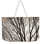 Branches Silhouettes Mono Tone Weekender Tote Bag