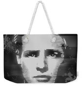 Brando Odyssey Black And White Weekender Tote Bag