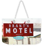 Brants Motel Sign Barstow Weekender Tote Bag