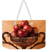 Brass Bowl With Fuji Apples Weekender Tote Bag