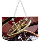 Brass Steering Wheel Weekender Tote Bag