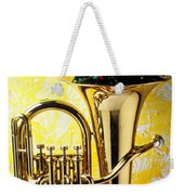 Brass Tuba With Red Roses Weekender Tote Bag