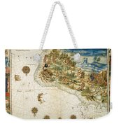 Brazil: Map And Native Indians Weekender Tote Bag