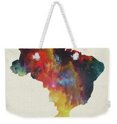 Brazil Watercolor Map Weekender Tote Bag