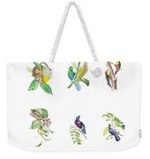 Brazilian Tropical Birds Weekender Tote Bag
