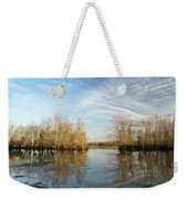 Brazos Bend Winter Reflections Weekender Tote Bag