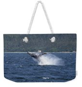 Breaching Whale Paint Weekender Tote Bag