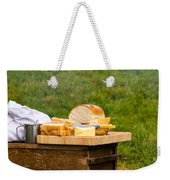 Bread With Butter On Cutting Board Weekender Tote Bag