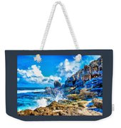 Breakers On The Rocks At Kenridgeview - On - Sea L A S Weekender Tote Bag